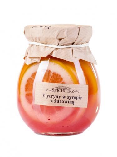 Cytryny w syropie z żurawiną 290g*SPICHLERZ*