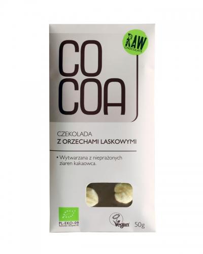 Czekolada surowa z orzechami laskowymi 50g*COCOA*BIO