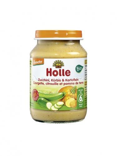 Danie cukinia / dynia / ziemniaki słoik 190g*HOLLE*BIO DEMETER