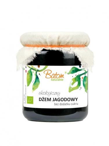 Dżemik jagodowy 80% bez dodatku cukru 260g*BATOM*BIO  - opakowanie zbiorcze po 8 szt.
