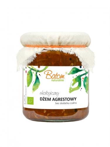 Dżemik agrestowy 80% bez dodatku cukru 260g*BATOM*BIO  - opakowanie zbiorcze po 8 szt.