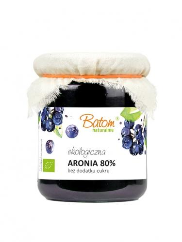 Dżemik aroniowy 80% bez dodatku cukru 260g*BATOM*BIO