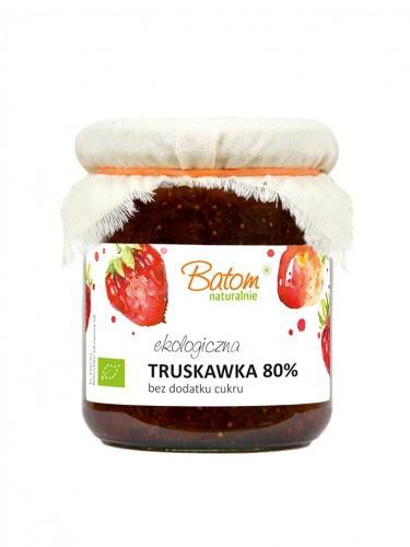 Dżemik truskawkowy 80% bez dodatku cukru 260g*BATOM*BIO - opakowanie zbiorcze po 4 szt.