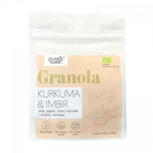 Musli / granola kurkuma / imbir 200g*PURE&SWEET*BIO