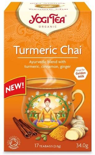 Herbata **Turmeric Chai** z kurkumą ekspres 17T*YOGI TEA*BIO