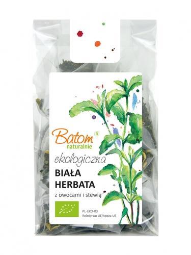 Herbata biała owocowa / stewia liście ekspres 15szt*BATOM*BIO  - najlepiej spożyć przed: 01.04.2021