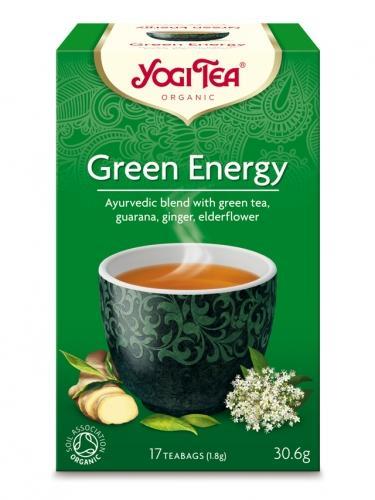 Herbata **Green Energy** zielona ekspres 17T*YOGI TEA*BIO