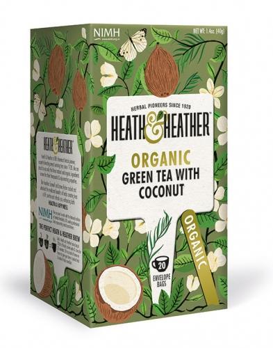 Herbata zielona / aromat kokosowy ekspres 20T*HEATH HEATHER*BIO  - najlepiej spożyć przed: 31.12.2021