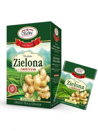 Herbata zielona / imbir ekspres 20T*MALWA*
