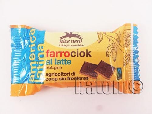 Herbatniki orkiszowe z mleczną czekoladą 28g*ALCE NERO*BIO