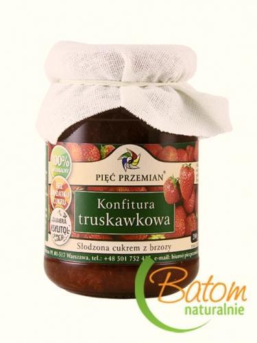 Konfitura truskawkowa słodzona ksylitolem 200g*PIĘĆ PRZEMIAN*
