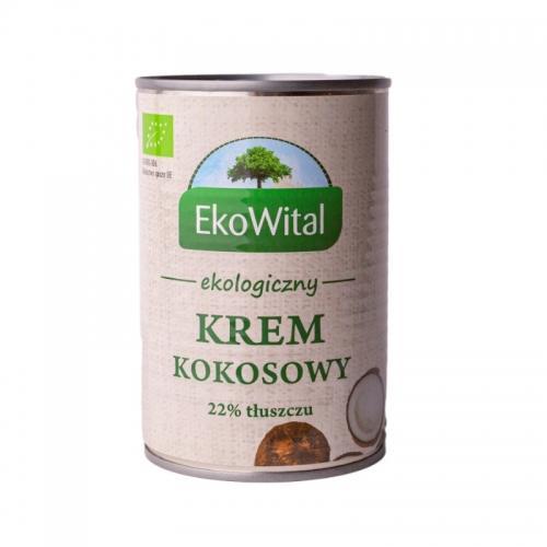 Krem kokosowy w puszce 22% 400ml*EKOWITAL*BIO