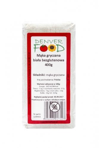 Mąka bezglutenowa gryczana biała 400g*DENVER FOOD*