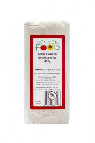 Mąka bezglutenowa owsiana 400g*DENVER FOOD*