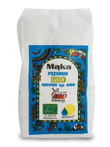 Mąka pszenna TYP 2000 razowa 1kg*BABALSCY*BIO