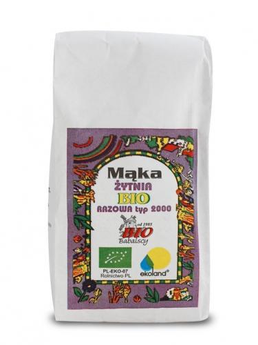 Mąka żytnia TYP 2000 razowa 1kg*BABALSCY*BIO