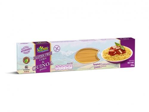 Makaron kukurydziany / quinoa bezglutenowy spaghetti 250g*SAMMILLS*
