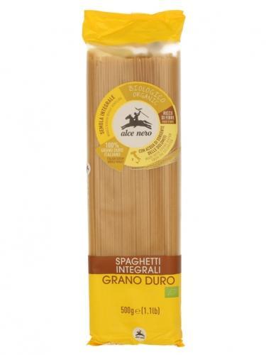 Makaron pszenny razowy spaghetti 500g*ALCE NERO*BIO