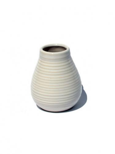 Matero ceramiczne prążek 250ml białe
