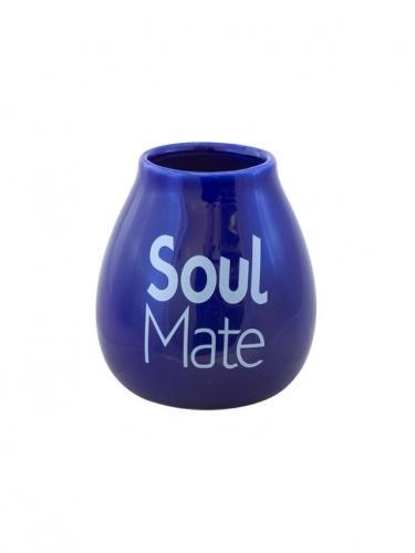 Matero ceramiczne **Soul Mate** 350ml niebieskie