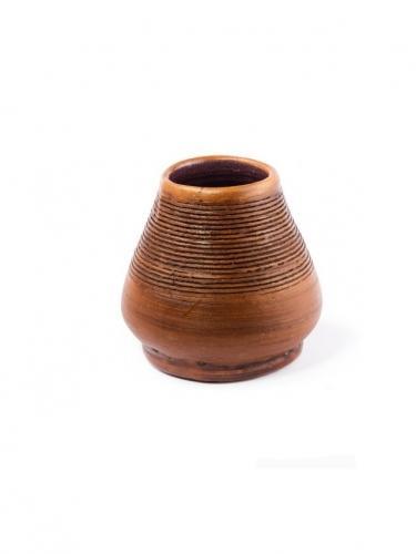 Matero gliniane prążek brązowe