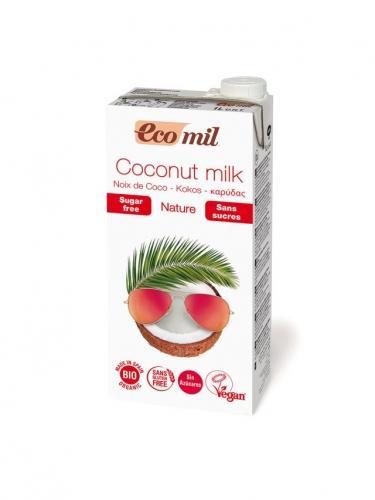 Mleczko kokosowe bez cukru 1l*ECOMIL*BIO - opakowanie zbiorcze po 6 szt.