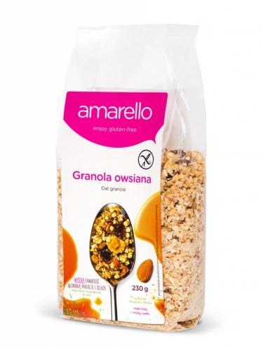 Musli **Granola** owsiana bezglutenowa 230g*AMARELLO*  - opakowanie zbiorcze po 7 szt.