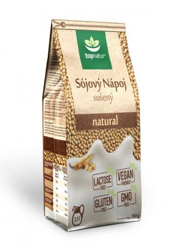 Napój sojowy naturalny bezglutenowy w proszku 350g*TOPNATUR* - opakowanie zbiorcze po 12 szt.