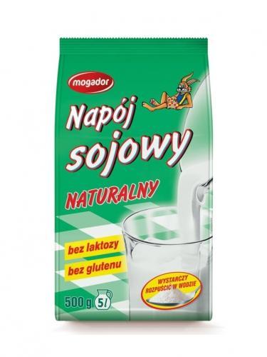 Napój sojowy naturalny w proszku 500g*MOGADOR* - opakowanie zbiorcze po 10 szt.
