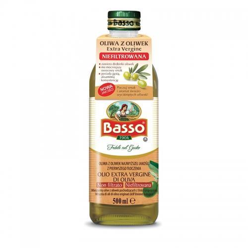 Oliwa z oliwek ekstra virgin 500ml*BASSO*