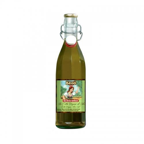 Oliwa z oliwek ekstra virgin niefiltrowana 500ml*BASSO*