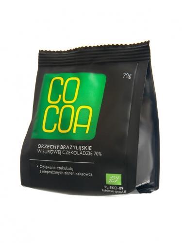 Orzechy brazylijskie w surowej czekoladzie 70g*COCOA*BIO