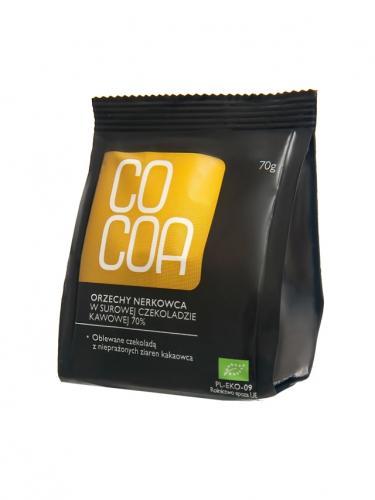 Orzechy nerkowca w surowej czekoladzie kawowej 70g*COCOA*BIO