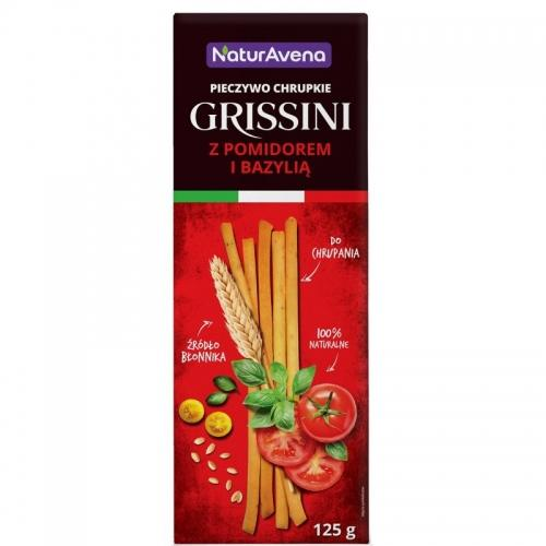 Paluszki **Grissini** pomidory / bazylia pszenne 125g*VITALIANA*