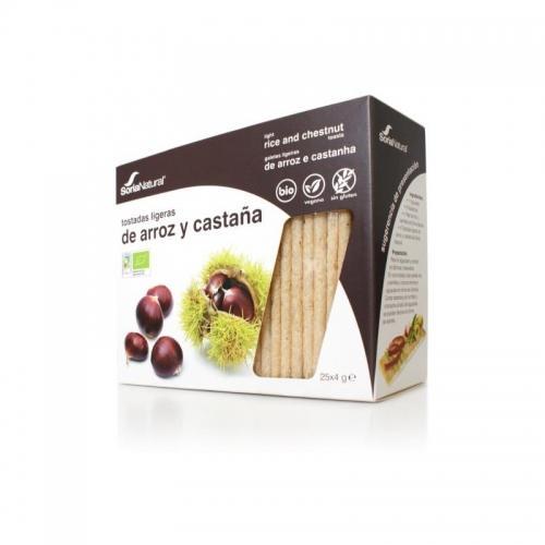 Pieczywo chrupkie ryżowe / kasztanowe 95g*SORIA NATURAL*BIO