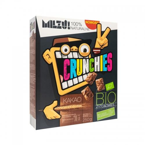 Płatki zbożowe **Crunchies** kakaowe 250g*MILZU*BIO
