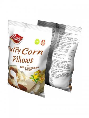 Chrupki kukurydziane **Poduszeczki** bezglutenowe / krem mleczno- cynamonowy 70g*BALILA*