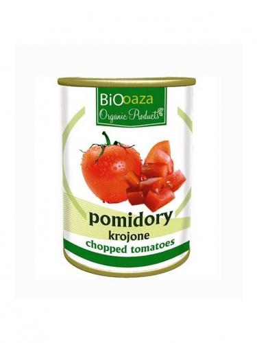 Pomidory krojone puszka 400g*BIO OAZA*BIO TERMIN: 31.12.2020