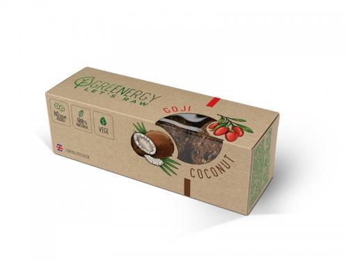 Przekąska owocowa kokos / goji 3 x 16g*GREENERGY*  - najlepiej spożyć przed: 10.03.2022