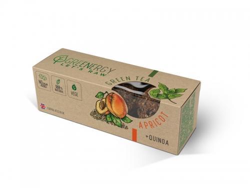 Przekąska owocowa morela / zielona herbata 3 x 16g*GREENERGY*  - najlepiej spożyć przed: 10.03.2022
