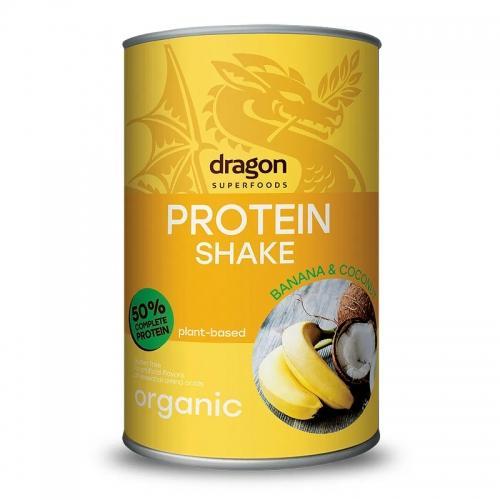Shake białkowy banan / kokos proszek 450g*DRAGON SUPERFOODS*BIO