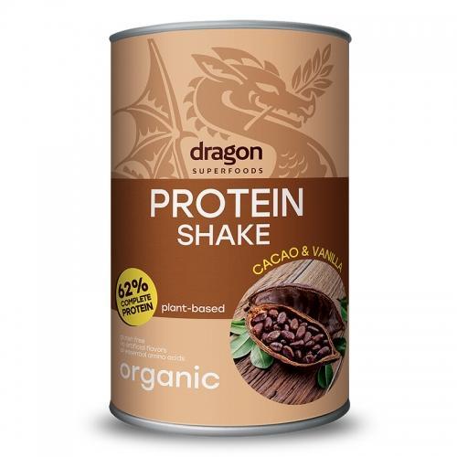 Shake białkowy kakao / wanilia proszek 500g*DRAGON SUPERFOODS*BIO