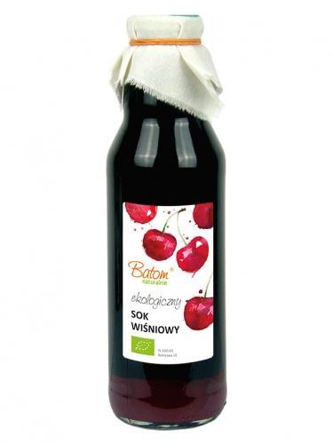 Sok wiśniowy bez dodatku cukru 750ml*BATOM*BIO - opakowanie zbiorcze po 10 szt.