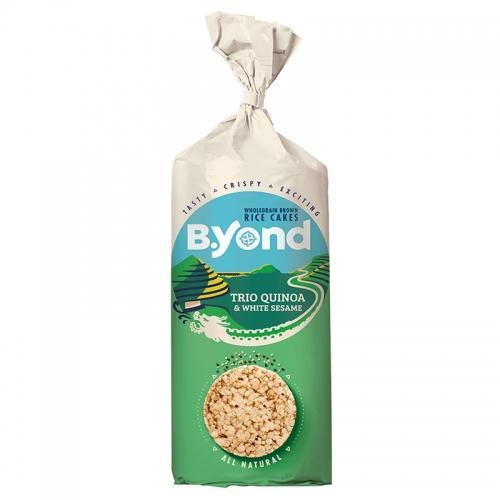 Wafle ryżowe pełnoziarniste / trójkolorowa quinoa / biały sezam 100g*B.YOND* TERMIN: 13.10.2021