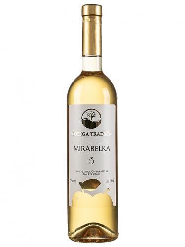 Wino **Potęga Tradycji** mirabelkowe / słodkie / Polska 750ml*VIN-KON*