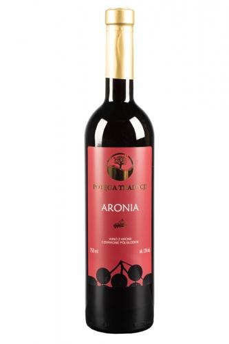 Wino aroniowe czerwone / półsłodkie / Polska 750ml*VIN-KON*