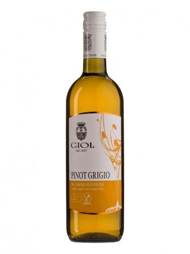 Wino bez siarczynów białe / wytrawne / Włochy 750ml*PINOT GRIGIO GIOL*BIO