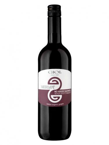 Wino bez siarczynów czerwone / wytrawne / Włochy 750ml*MERLOT GIOL*BIO