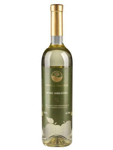 Wino jabłkowe / półwytrawne Polska 750ml*VIN-KON*BIO