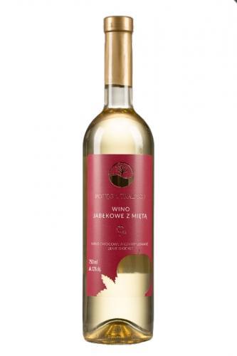 Wino jabłkowe z mietą białe / słodkie / Polska 750ml*VIN-KON*